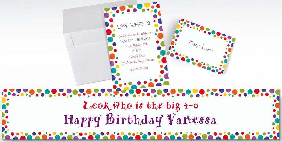 Custom Party Birthday Invitations and Thank You Notes