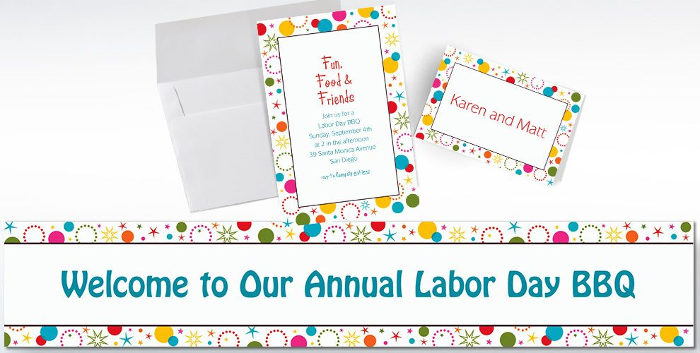 Custom Party Time Invitations and Thank You Notes