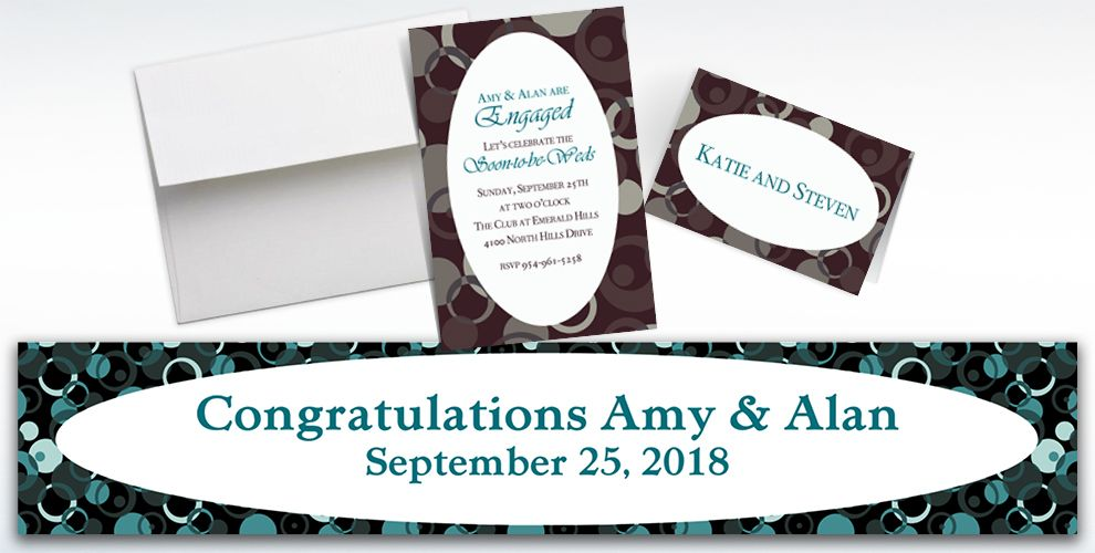 Custom Sophisticated Dots Invitations and Thank You Notes