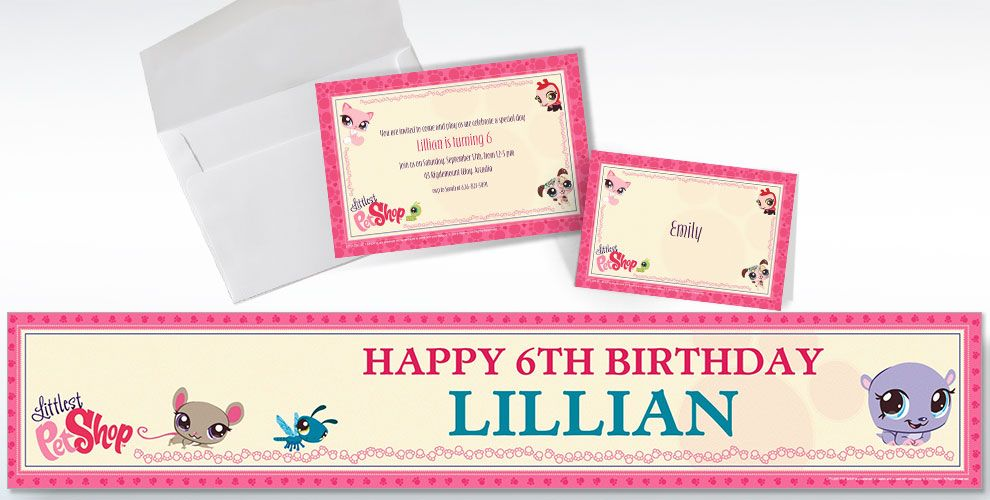 Custom Littlest Pet Shop Invitations & Thank You Notes | Party City