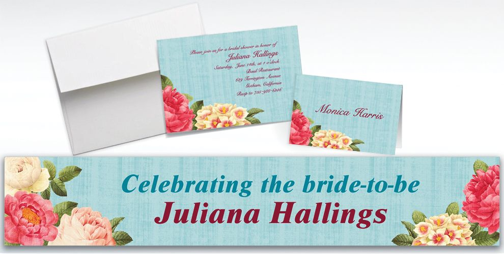 Custom Blissful Blooms Wedding Invitations and Thank You Notes