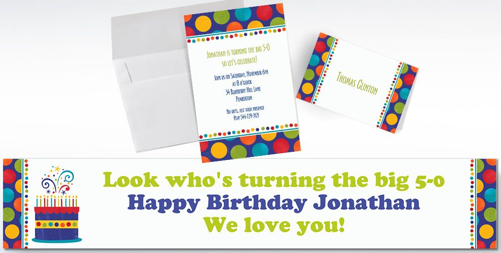 Custom Birthday Fever Fun Invitations and Thank You Notes