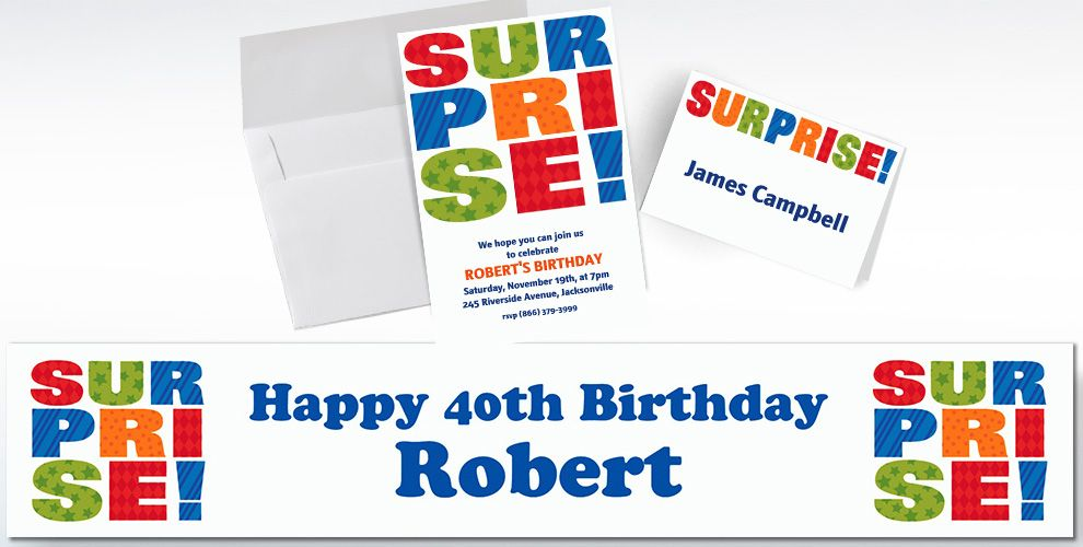 Custom Surprise Block Invitations and Thank You Notes