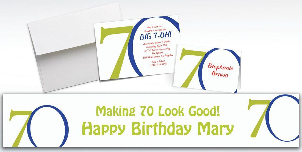 Custom Great Big 70th Invitations