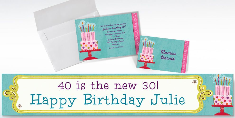 Custom Sweet Stuff Birthday Invitations and Thank You Notes
