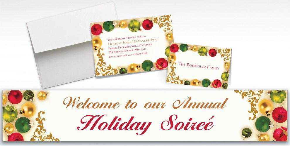 Custom Merry Moments Christmas Invitations and Thank You Notes