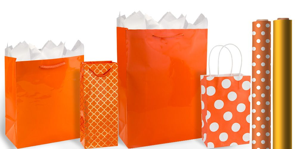 Orange Gift Bags and Wrap