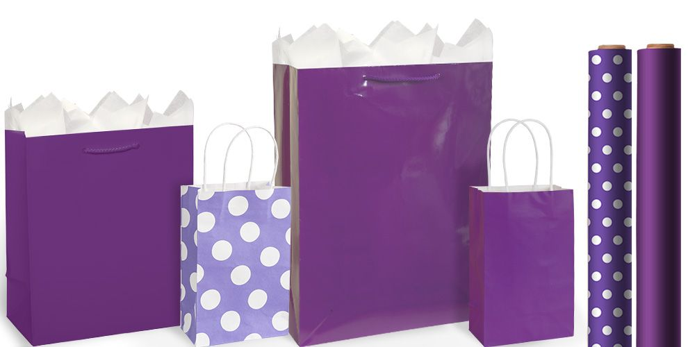 Purple Gift Bags and Wrap