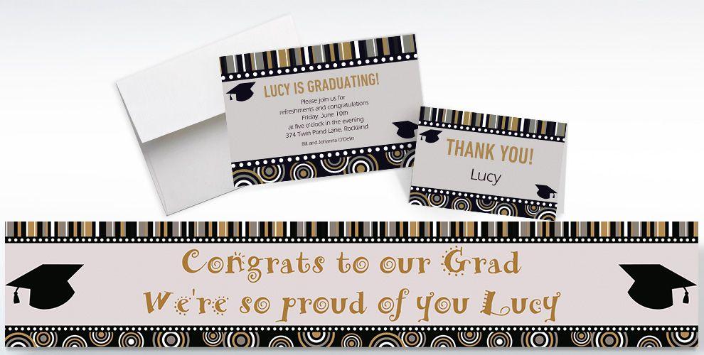 Custom Grad Inspiration Invitations and Thank You Notes
