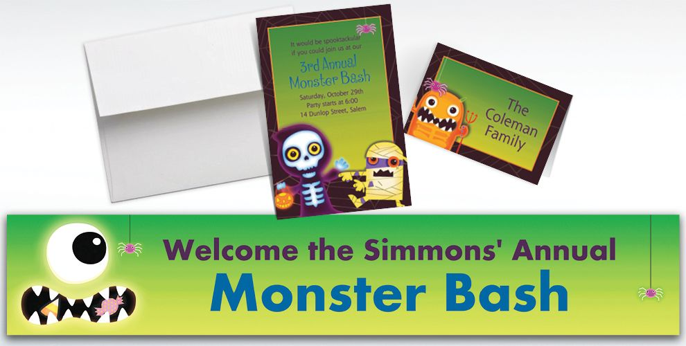 Custom Boo Crew Halloween Invitations and Thank You Notes