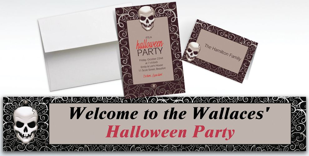 Custom Fright Night Halloween Invitations and Thank You Notes