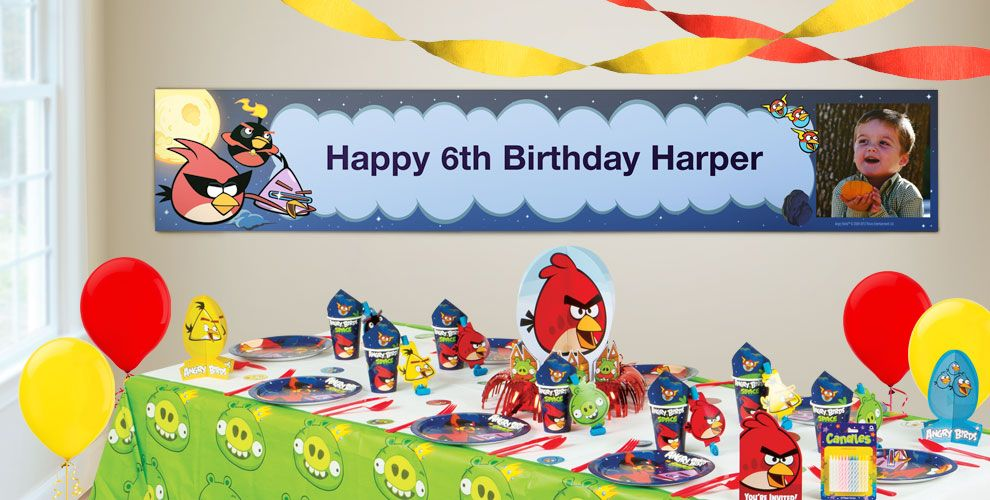 Custom Angry Birds Space Birthday Banners