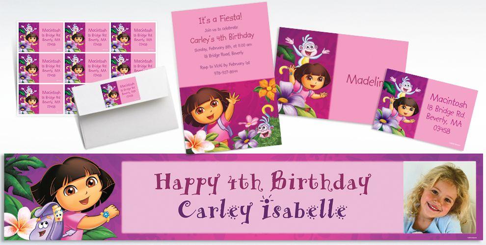 Custom Dora Invitations & Thank You Notes | Party City