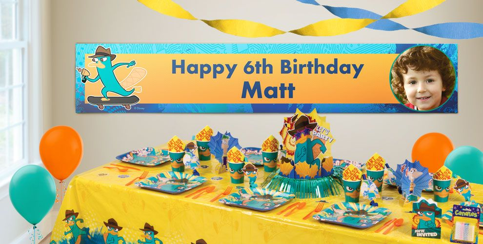 Custom Phineas and Ferb Birthday Banners
