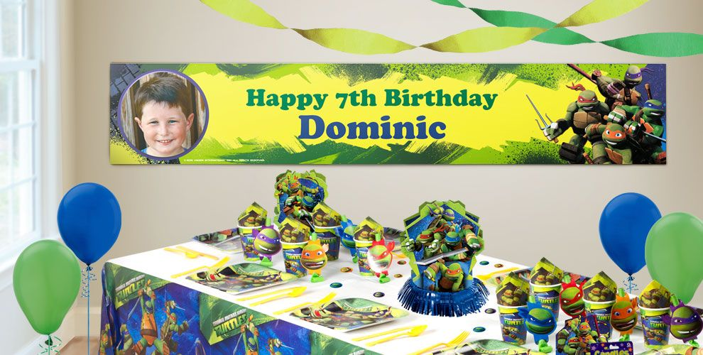 Custom Teenage Mutant Ninja Turtles Birthday Banners