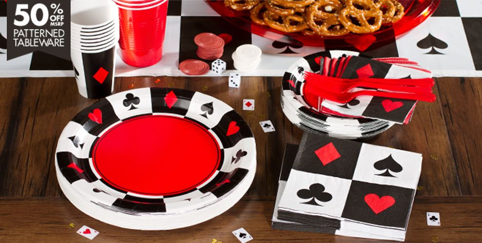 Place Your Bets Casino Theme Party Supplies | Party City