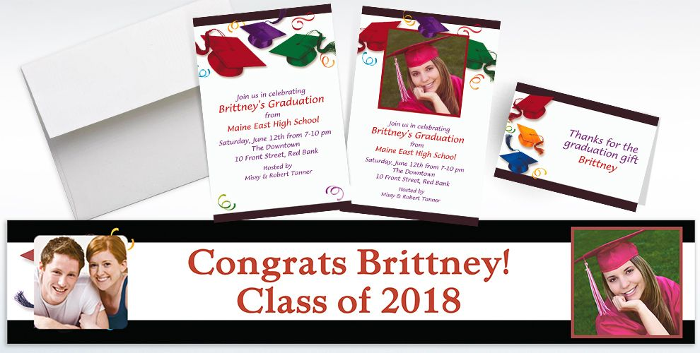 Custom School's Out Graduation Invitations and Thank You Notes