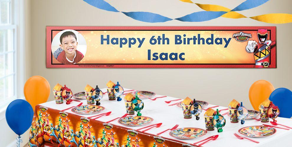 Custom Power Rangers Birthday Banners