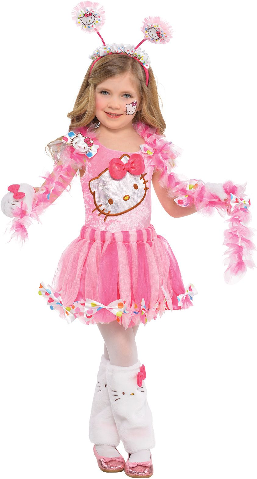 Create Your Own Girls\' Pink Hello Kitty Costume Accessories | Party City