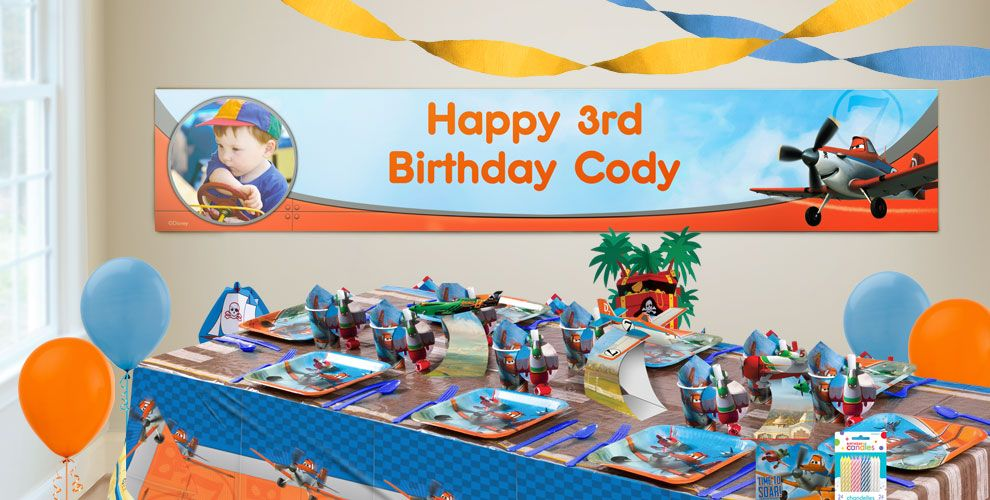 Custom Planes Birthday Banners