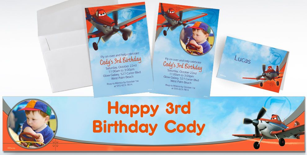 Custom Planes Invitations and Thank You Notes