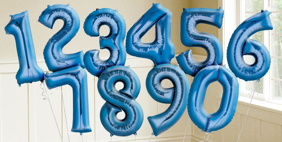 Giant Blue Number Balloons