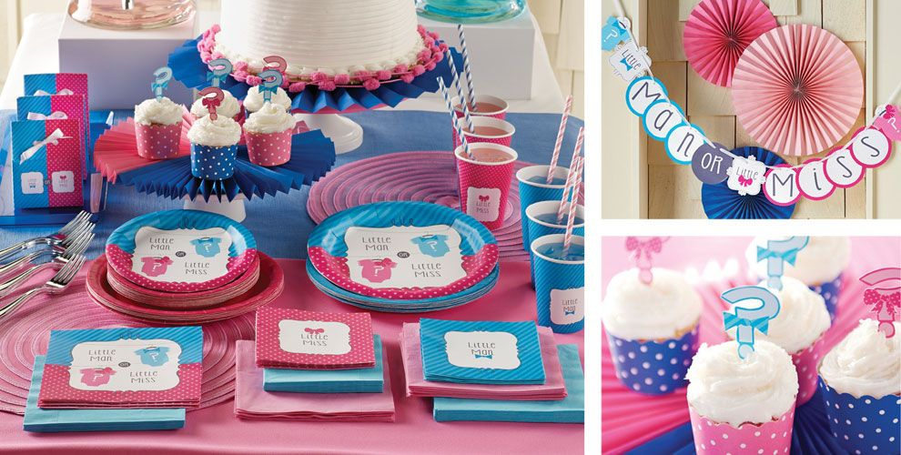 Little Man, Little Miss Gender Reveal Party Supplies | Party City