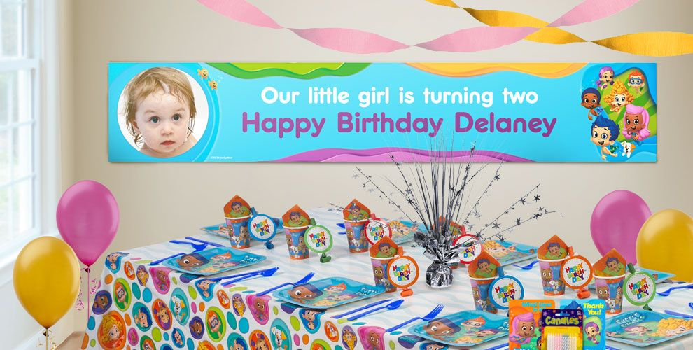 Custom Bubble Guppies Birthday Banners | Party City