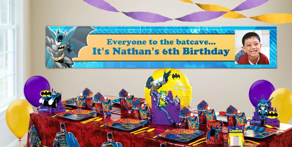 Custom Batman Birthday Banners