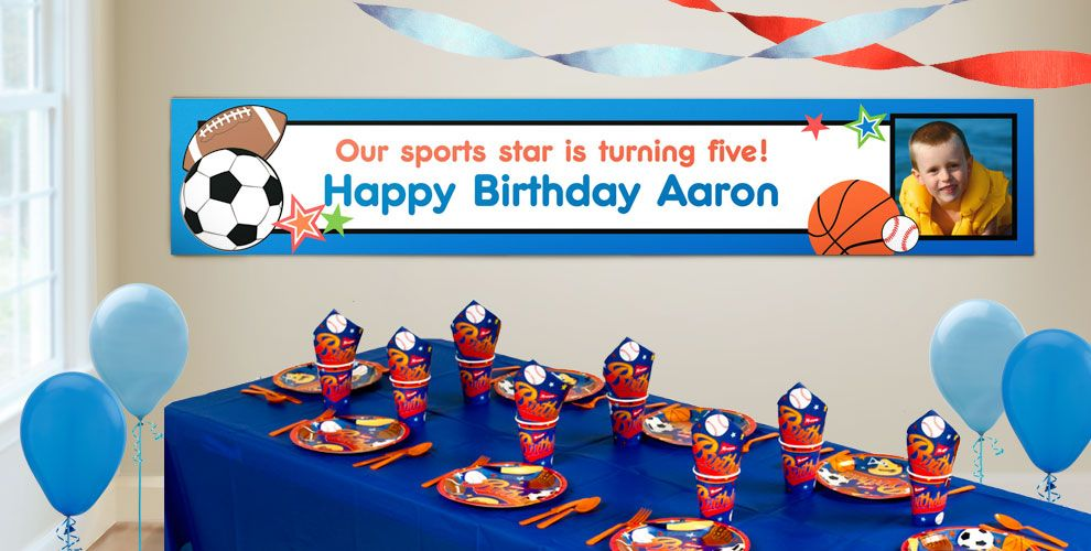 Custom Play Ball Birthday Banners