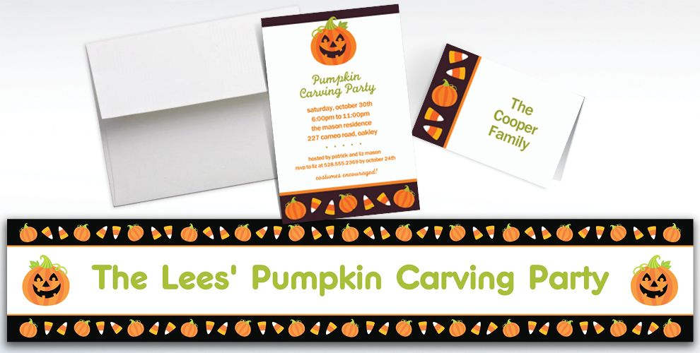 Custom Halloween Friends Halloween Invitations and Thank You Notes