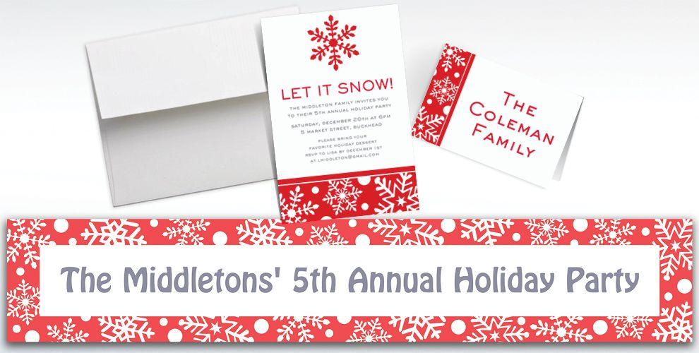 Custom Winter Holiday Invitations and Thank You Notes