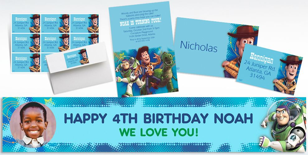 Custom Toy Story Invitations and Thank You Notes