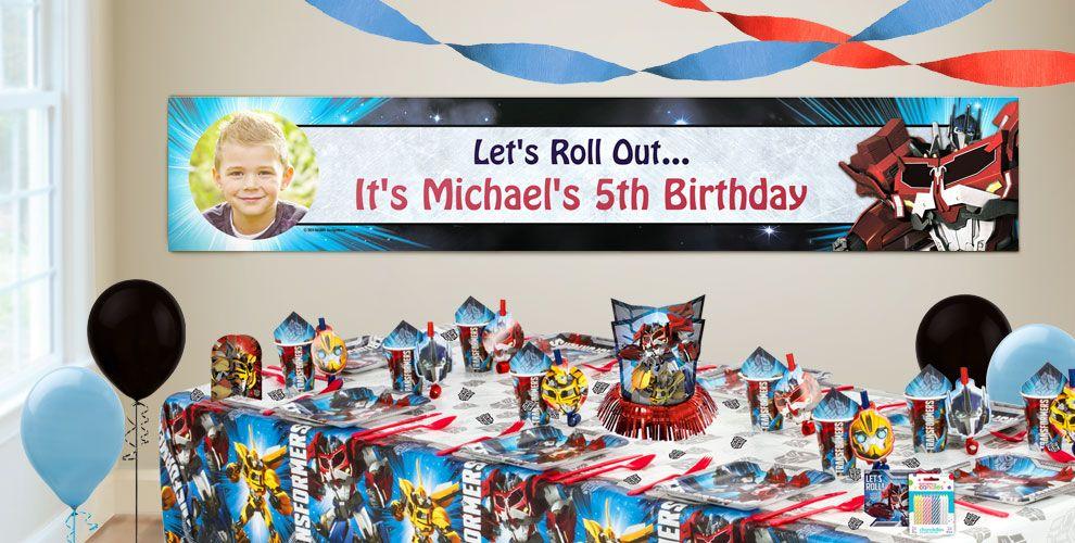 Custom Transformers Birthday Banners