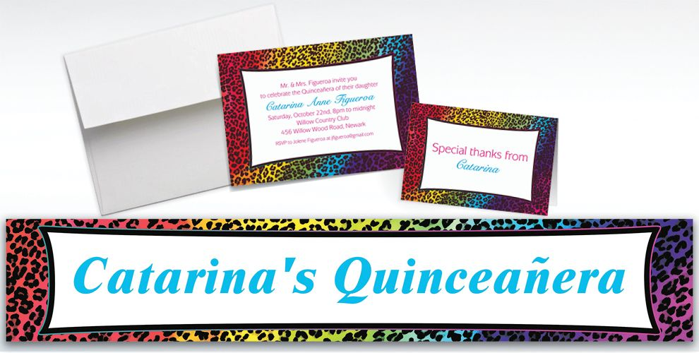 Custom Wild Leopard Invitations and Thank You Notes