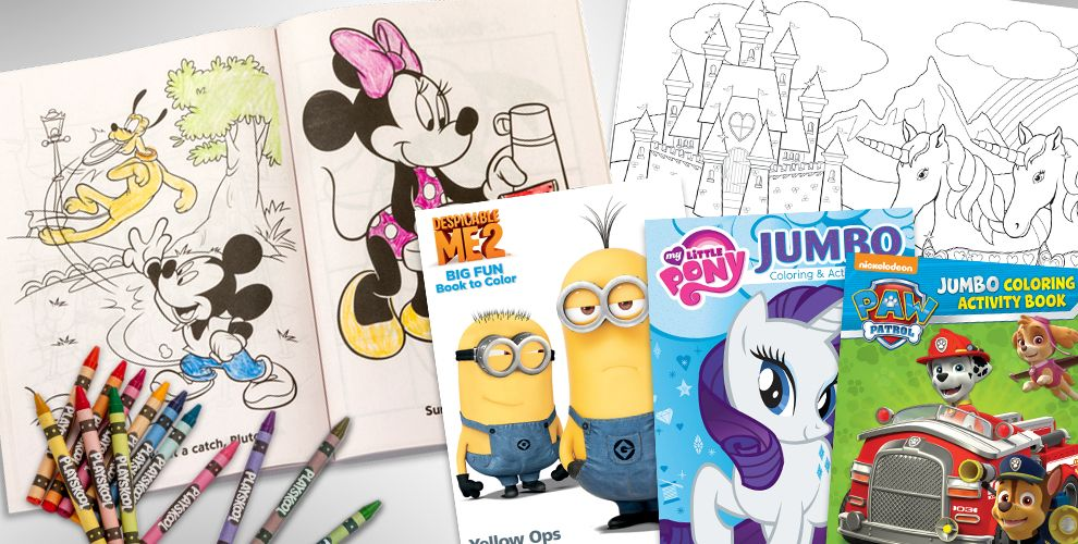 Coloring books for kids party city
