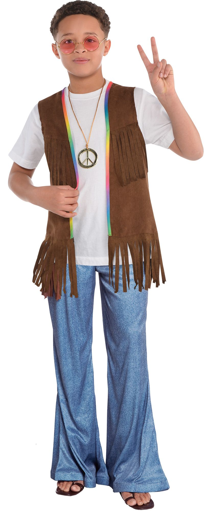 Create Your Own Boysu0026#39; Hippie Costume Accessories | Party City