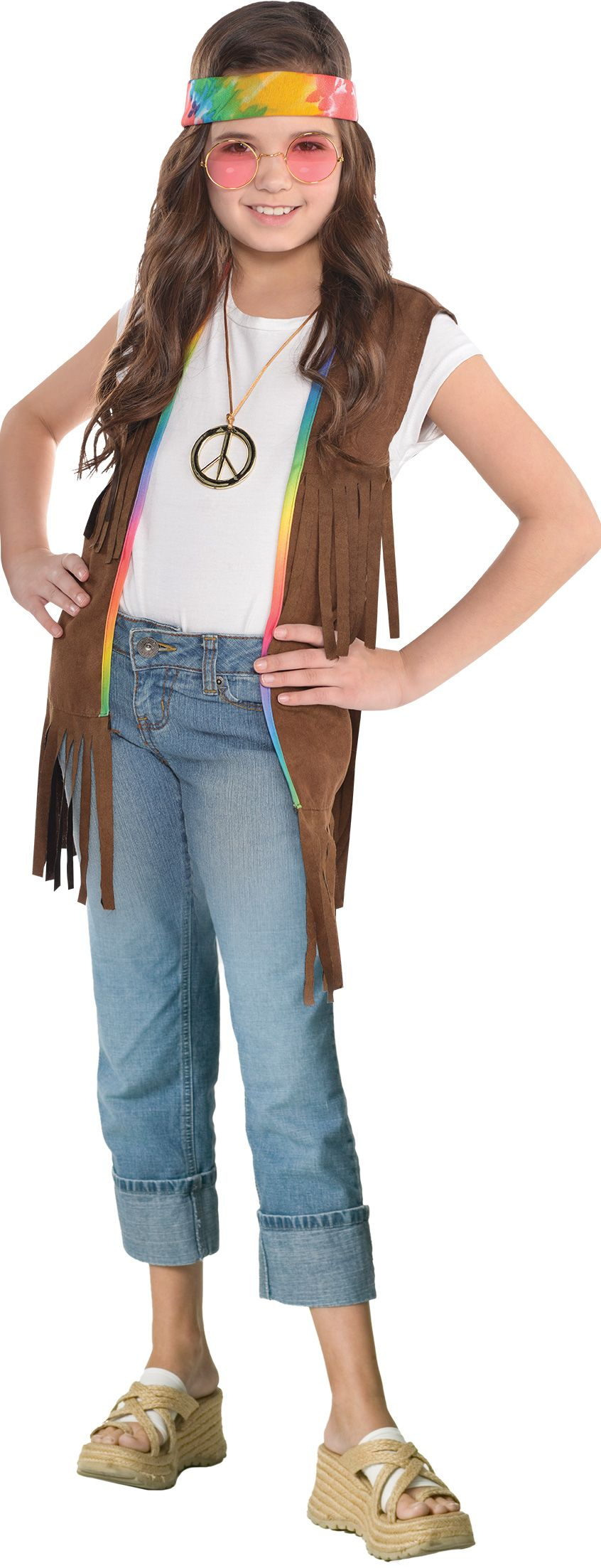 Create Your Own Girlsu0026#39; Hippie Costume Accessories | Party City