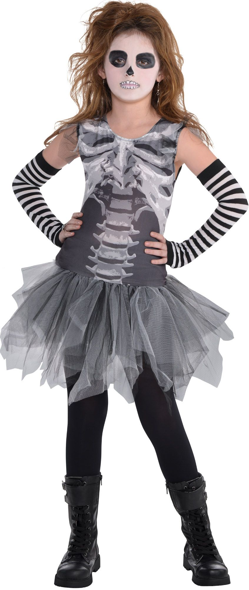 Create Your Own Girls' Skeleton Costume Accessories | Party City ...