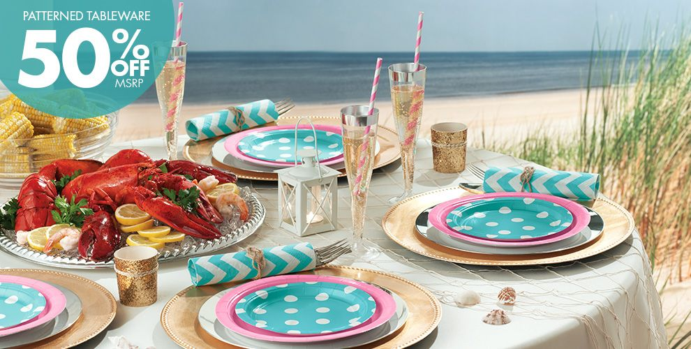 Dots and Chevron Beach Party