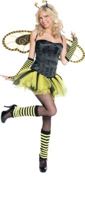 Make Your Costume - Womens Honey Bee Costume  sc 1 st  Party City & Womenu0027s Honey Bee Hottie Costume Accessories   Party City