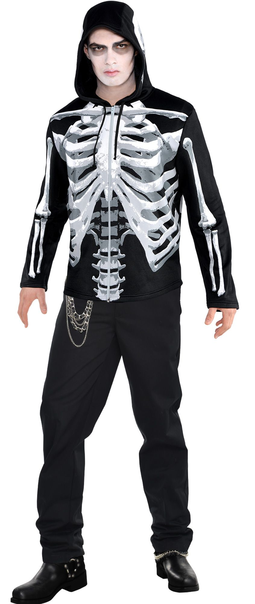 Make Your Costume - Mens Black And Bone  #2