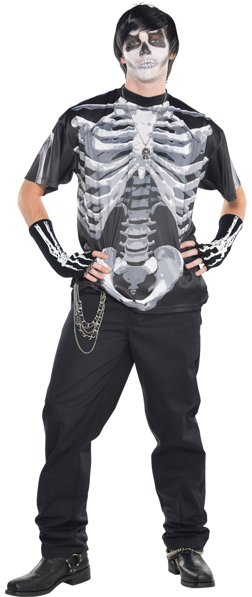 Make Your Costume - Mens Black And Bone  #1