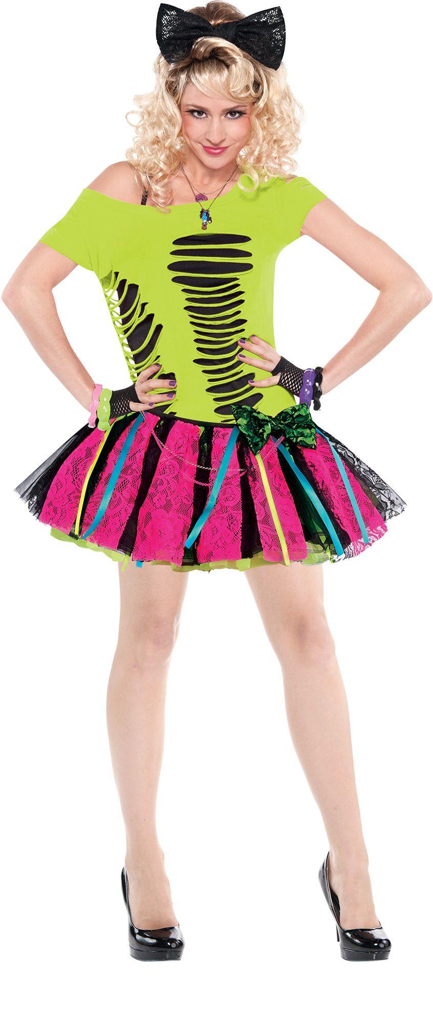 Make Your Costume - 80s Womens Neon Tutu #1