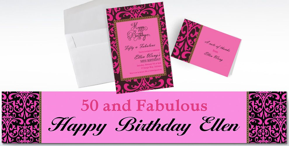 Custom Fabulous Celebration Invitations and Thank You Notes