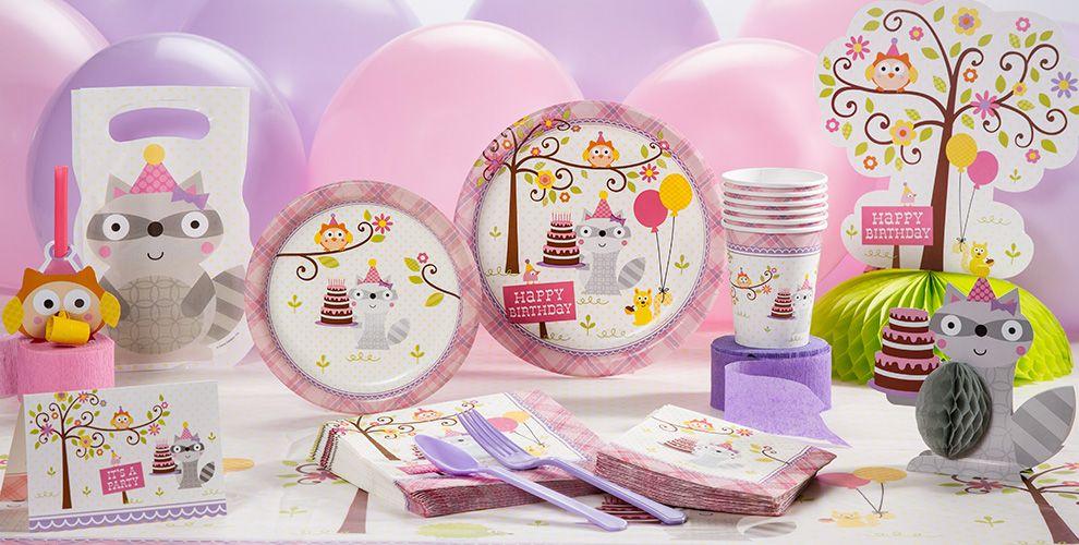 Girl Birthday Party Supplies - Happi Woodland