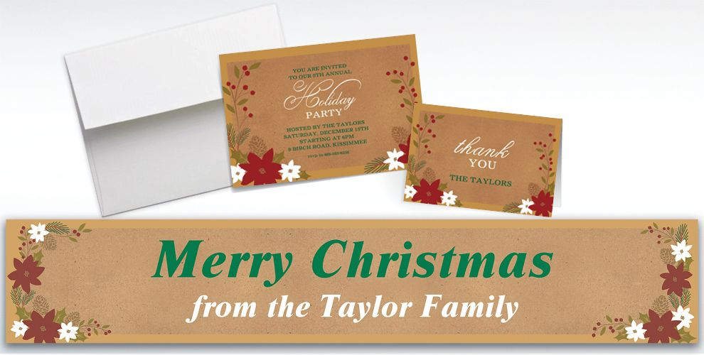 Custom Merry Little Christmas Invitations and Thank You Notes