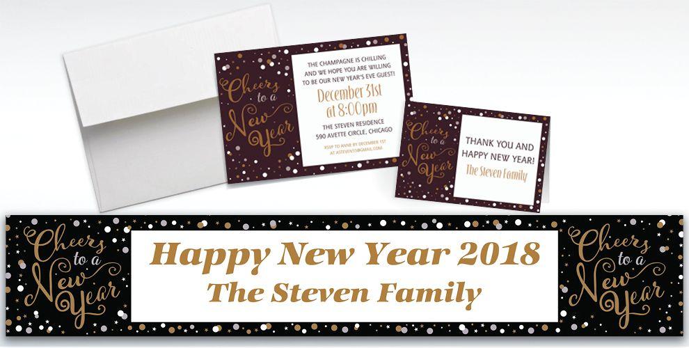 Custom Confetti Celebration Invitations and Thank You Notes