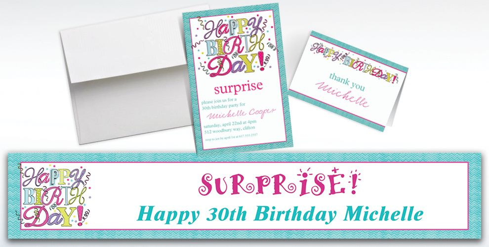 Custom Sweet Party Invitations and Thank You Notes