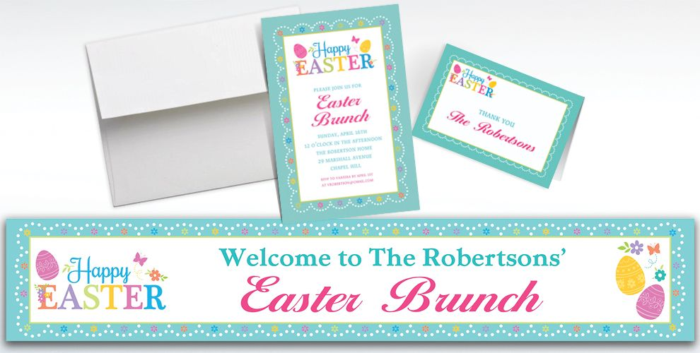 Custom Egg-citing Easter Invitations and Thank You Notes